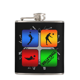 Amazing Volleyball Urban Style Flask