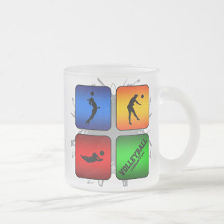 Amazing Volleyball Urban Style Frosted Glass Coffee Mug