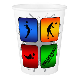 Amazing Volleyball Urban Style Paper Cup