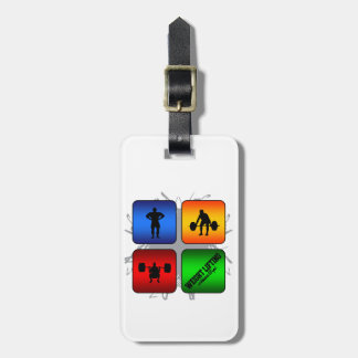 Amazing Weight Lifting Urban Style Luggage Tag