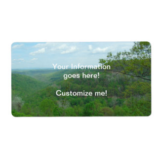 Amazing West Virginia Mountain View Shipping Label