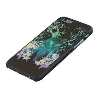 Amazing wolf carved maple iPhone 6 case