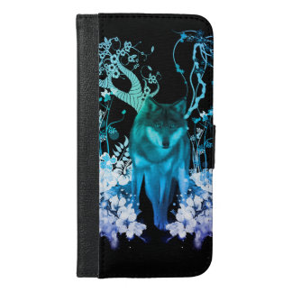 Amazing wolf iPhone 6/6s plus wallet case