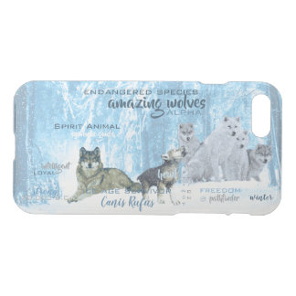 Amazing Wolves Typography | Personalized iPhone 8/7 Case
