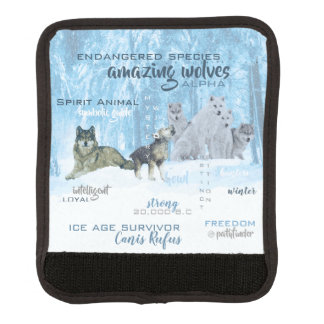 Amazing Wolves Typography | Personalized Luggage Handle Wrap