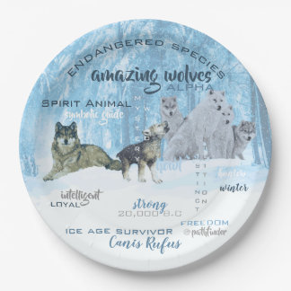 Amazing Wolves Typography | Personalized Paper Plate