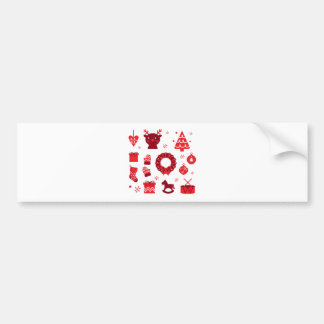 Amazing xmas Elements Red Bumper Sticker