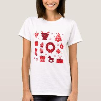 Amazing xmas Elements Red T-Shirt