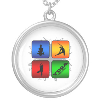 Amazing Yoga Urban Style Silver Plated Necklace