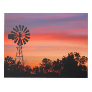 Amazingly Colorful Dawn Sunrise Windmill Notepad
