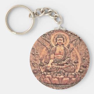 Amazingly Detailed Copper Buddha Keychain