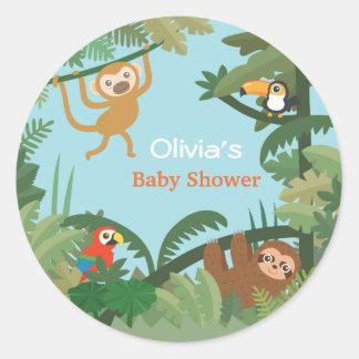 Amazon Animals Jungle Theme Baby Shower Stickers