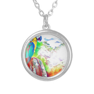 Amazon Bird Silver Plated Necklace