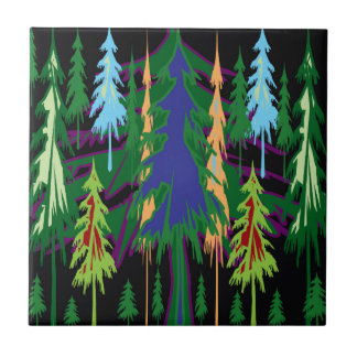 Amazon Dense Forest Trees Abstract Art on Gifts Ceramic Tiles