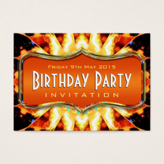 Amazon Fire Wings Abstract Art Mini Invitations