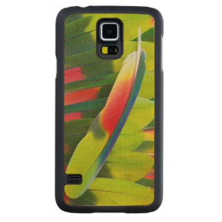 Amazon Parrot Feather Still Life Carved Maple Galaxy S5 Case