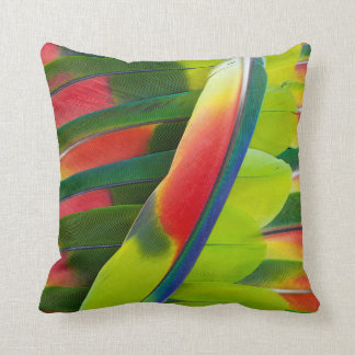 Amazon Parrot Feather Still Life Throw Pillow