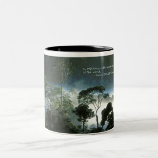 Amazon Rainforest at Dawn Two-Tone Coffee Mug