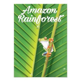 Amazon rainforest Travel poster Photo
