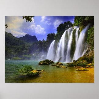 Amazon Rainforest Tropical Waterfall Poster