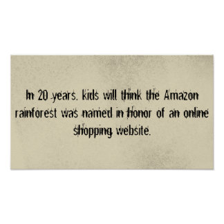 Amazon rainforest v shopping poster