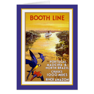 Amazon River  Booth Line Greeting Card