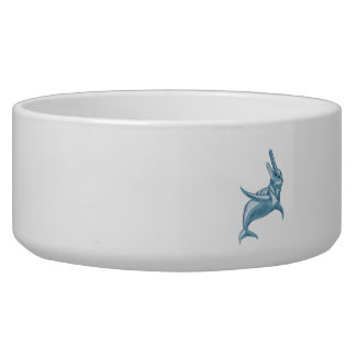 Amazon River Dolphin Drawing Pet Water Bowl