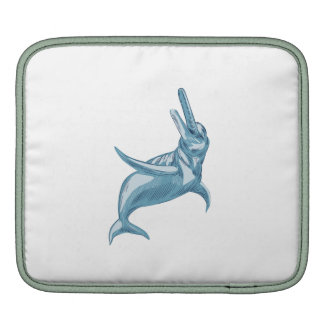 Amazon River Dolphin Drawing Sleeve For iPads