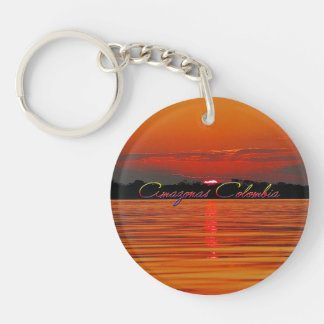 Amazon River Sunset Key Chain