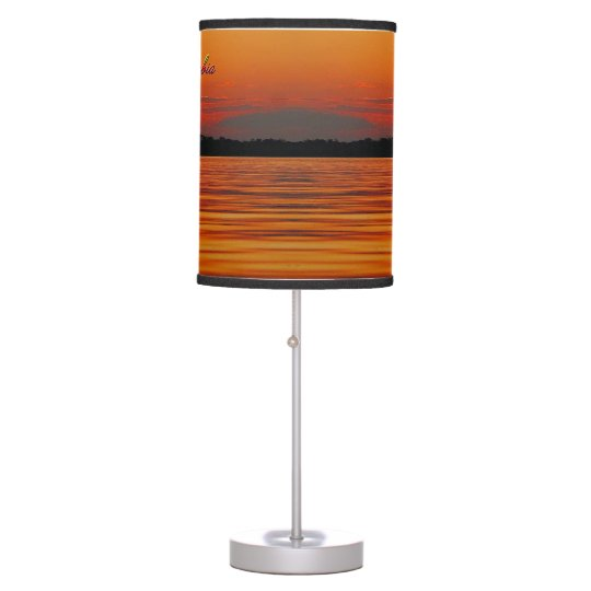 Amazon River Sunset Lamp-in-a-Box Table Lamp