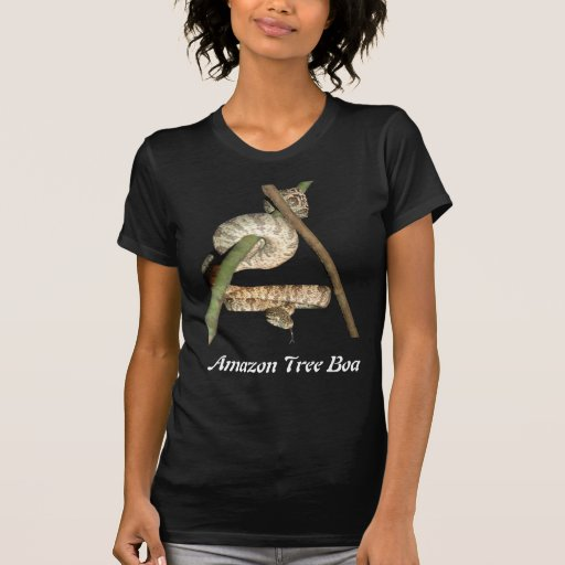 Amazon Tree Boa Ladies Destroyed Shirt