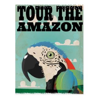 Amazon vintage travel poster postcard