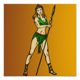 Amazon Women Queen Poster