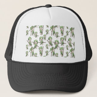 amazonian chibi girls trucker hat