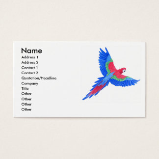 Amazonian Macaw Business Card
