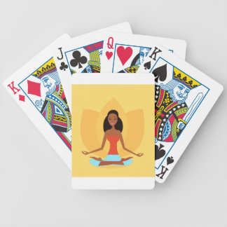 AMAZONIC YOGA PRINCESS WELLNESS GIRL YELLOW BICYCLE PLAYING CARDS