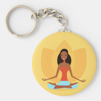 AMAZONIC YOGA PRINCESS WELLNESS GIRL YELLOW KEYCHAIN