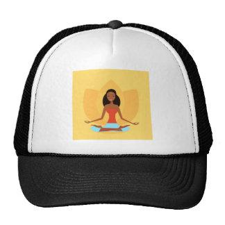 AMAZONIC YOGA PRINCESS WELLNESS GIRL YELLOW TRUCKER HAT