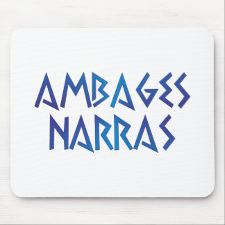 ambages narras you speaks in mysteries latin latin mouse pad