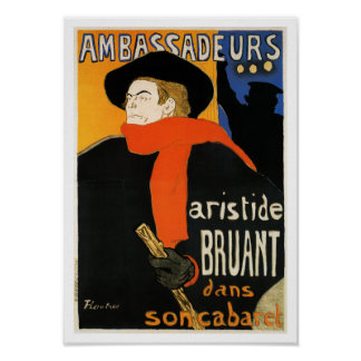 Ambassadeurs Aristide Bruant - Toulouse Lautrec Poster