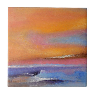 Amber Abstract Ceramic Tile