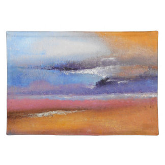 Amber Abstract Cloth Placemat