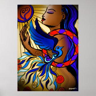 Amber Agape Print