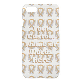 Amber Angel Awareness Ribbon iPhone Cases