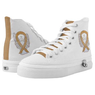 Amber Awareness Ribbon Angel Custom Shoes