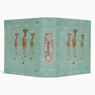 Amber & Azure Giraffes Album Vinyl Binder