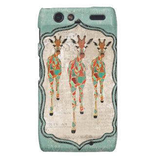Amber  & Azure Giraffes Case Motorola Droid RAZR Case