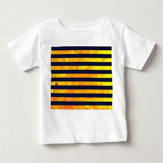 Amber background | stripes pattern baby T-Shirt