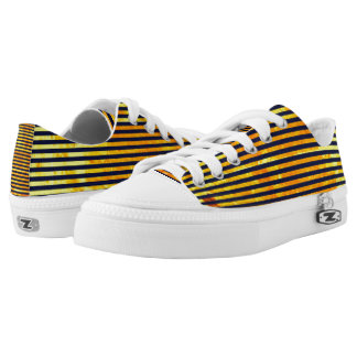 Amber background   stripes pattern Low-Top sneakers