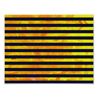 Amber background | stripes pattern poster